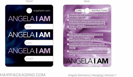 Angela Simmons 3 x 4 inch Hang tag