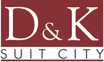 D & K Suit City Menswear Outlet Logo Redesign