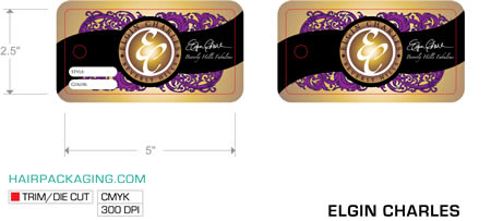 Elgin Charles Beverly Hills Hang tag design