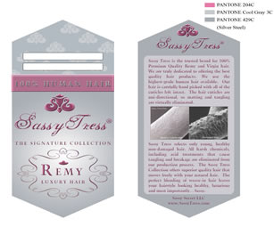 hair hang tag for remy hair - Sassy Secret Tress hair tag