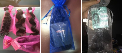 Fabric Bags and Custom Printed Hair Hang tags