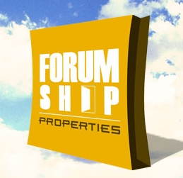 Forum Shop Properties Logo Design for Real Estate Developer