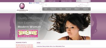 website design for wholesale and retail hair industry products
