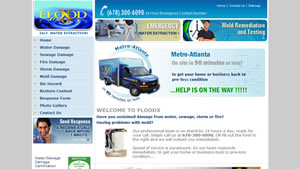 Website developer for Flood-water damage and mold control in Duluth and Johns Creek