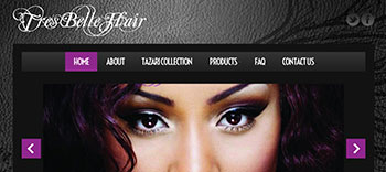 human hair WordPress blog for hair extensions