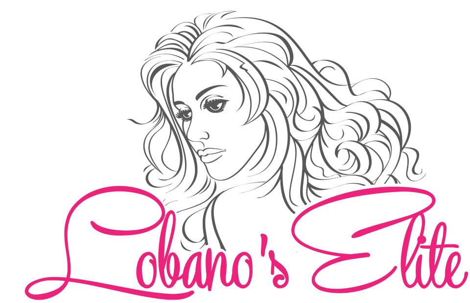 This logo includes an illustration of a glamorous and sexy woman with flowing hair