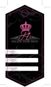 Palace Hair Shop Hexagon Shaped Hair Hang Tag