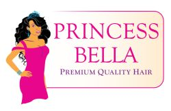Illustration of a Princess used in logo for Human Hair Extensions