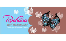 Logo designed with Illustrations of Butterflies for 100% Human Hair Company (Australia)