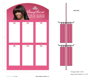 Sassy POP Display for Clip-in Bangs