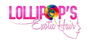 Colorful logo design for Lollipops Exotic Human Hair Company