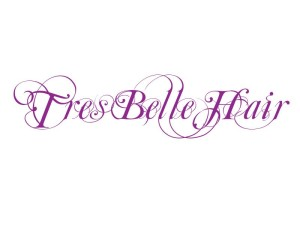 Logo for Tres Belle Hair Company - see their hair extensions brand Tazari which has a matching logo
