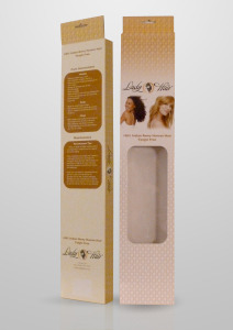 Box for Hair extentions with window